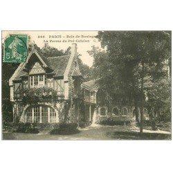 carte postale ancienne PARIS 16. Bois de Boulogne. Ferme Pré Catelan 1910