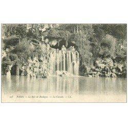 carte postale ancienne PARIS 16. Bois de Boulogne. La Cascade 1905