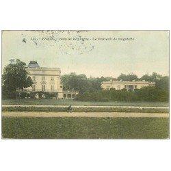 carte postale ancienne PARIS 16. Bois de Boulogne. Le Château de Bagatelle 1905 petite animation