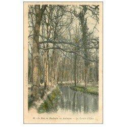 carte postale ancienne PARIS 16. Bois de Boulogne. Le Cours d'Eau vers 1900