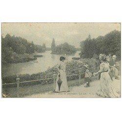 carte postale ancienne PARIS 16. Bois de Boulogne. Le Lac 1903