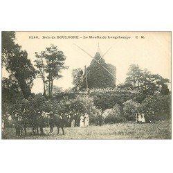 carte postale ancienne PARIS 16. Bois de Boulogne. Moulin de Longchamps
