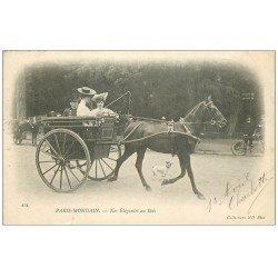carte postale ancienne PARIS 16. Bois de Boulogne. Nos Elégantes en Sulky 1903. Paris Mondain