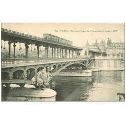 PARIS 16. Pont Viaduc du Métropolitain à Passy