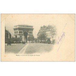 carte postale ancienne PARIS 17. Arc de Triomphe de l'Etoile 1903