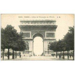 carte postale ancienne PARIS 17. Arc de Triomphe de l'Etoile 5068