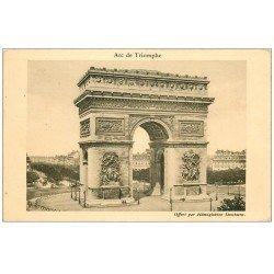 carte postale ancienne PARIS 17. Arc de Triomphe de l'Etoile. Hémoglobine Deschiens