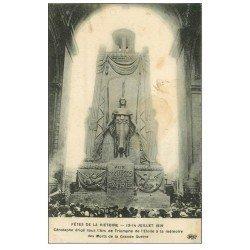 carte postale ancienne PARIS 17. Arc de Triomphe. Cénotaphe 1921
