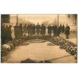 carte postale ancienne PARIS 17. Arc de Triomphe. Tombe du Soldat Inconnu 138