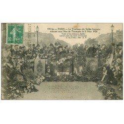 carte postale ancienne PARIS 17. Arc de Triomphe. Tombe du Soldat Inconnu 1922