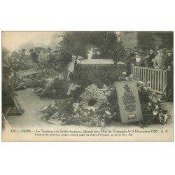 carte postale ancienne PARIS 17. Arc de Triomphe. Tombeau du Soldat Inconnu 490