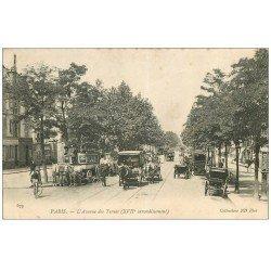 carte postale ancienne PARIS 17. Avenue des Ternes Hippomobile à Impériale 1904