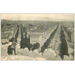 PARIS 17. Avenue Friedland et Champs-Elysées 1908