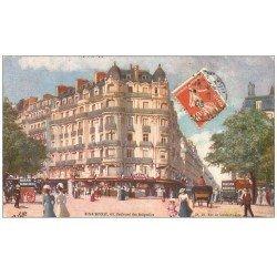 carte postale ancienne PARIS 17. Bazar Monceau Boulevard des Batignolles 1908. Edition Tuck