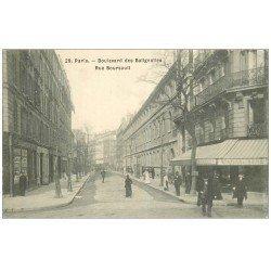 carte postale ancienne PARIS 17. Boulevard des Batignolles et rue Boursault