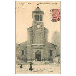 carte postale ancienne PARIS 17. Eglise Saint-Ferdinand des Ternes 1906