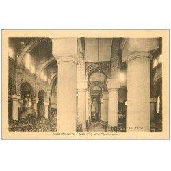 carte postale ancienne PARIS 17. Eglise Saint-Michel Déambulatoire