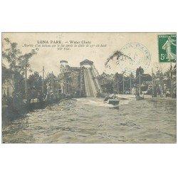 PARIS 17. Luna Park Water Chute. Arrivée d'un bateau sur le Lac 1909