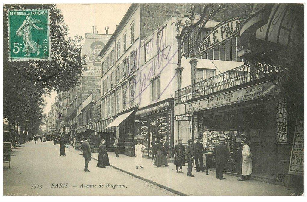 paris 17 magasin de cartes postales avenue de wagram etoile palace 1911. Black Bedroom Furniture Sets. Home Design Ideas