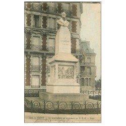 carte postale ancienne PARIS 17. Monument de Flachat 1907