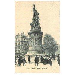 carte postale ancienne PARIS 17. Monument Moncey Place Clichy vers 1900