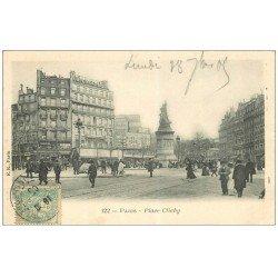 carte postale ancienne PARIS 17. Place Clichy 1905