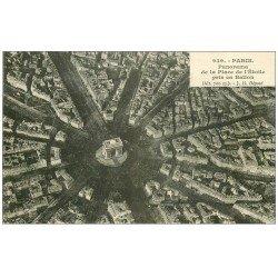 carte postale ancienne PARIS 17. Place de l'Etoile pris en Ballon 939