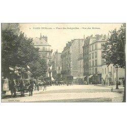 carte postale ancienne PARIS 17. Place des Batignolles Rue des Moines Hippomobile à Impériale