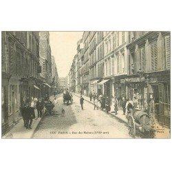 carte postale ancienne PARIS 17. Rue des Moines 1912 Papeterie cartes postales