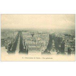carte postale ancienne PARIS 17. Vue générale 9 vers 1900