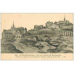 carte postale ancienne PARIS 18. Abbaye et Prieuré de Montmartre