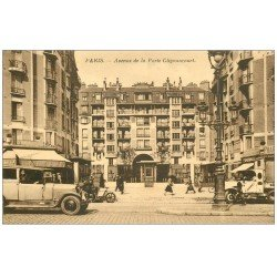 carte postale ancienne PARIS 18. Avenue de la Porte de Glignancourt Pharmacie
