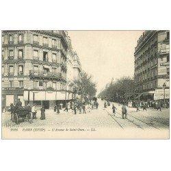 carte postale ancienne PARIS 18. Avenue de Saint-Ouen Pâtisserie 1917