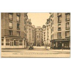 carte postale ancienne PARIS 18. Boulevard Ney Café Rue Jean-Varenne Fondation Lebrun