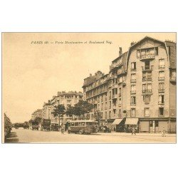 carte postale ancienne PARIS 18. Boulevard Ney Porte Montmartre Attelage Félix Potin