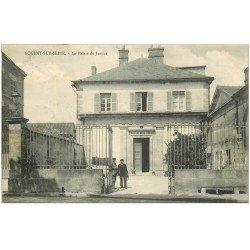 carte postale ancienne 10 NOGENT-SUR-SEINE. Le Palais de Justice 1905
