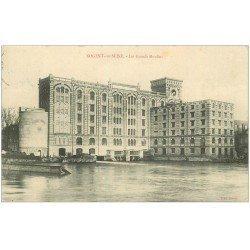 carte postale ancienne 10 NOGENT-SUR-SEINE. Les Grands Moulins 1909