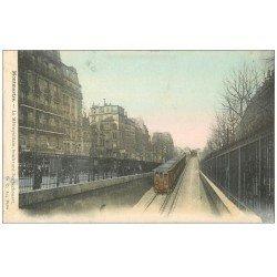 carte postale ancienne PARIS 18. Le Métropolitain Boulevard Rochechouart 1906