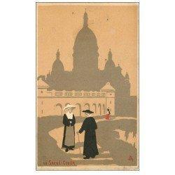 carte postale ancienne PARIS 18. Le Sacré-Coeur 1908