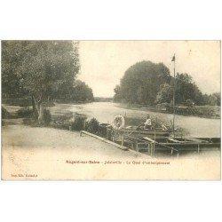 carte postale ancienne 10 NOGENT-SUR-SEINE. Les Quais d'embarquement 1905