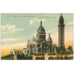 carte postale ancienne PARIS 18. Le Sacré-Coeur de Montmartre 1825