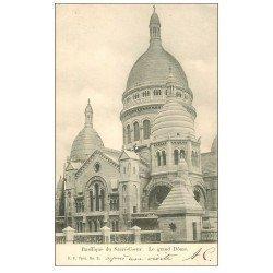 carte postale ancienne PARIS 18. Le Sacré-Coeur de Montmartre 1904