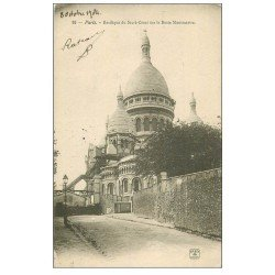carte postale ancienne PARIS 18. Le Sacré-Coeur de Montmartre 1904 93