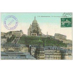 carte postale ancienne PARIS 18. Le Sacré-Coeur de Montmartre 1909