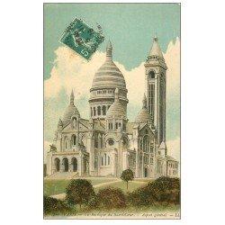 carte postale ancienne PARIS 18. Le Sacré-Coeur de Montmartre 1915