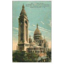 carte postale ancienne PARIS 18. Le Sacré-Coeur de Montmartre 256