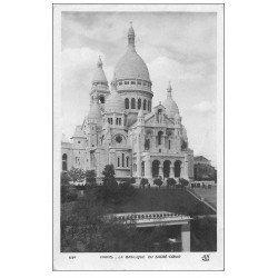 carte postale ancienne PARIS 18. Le Sacré-Coeur de Montmartre 634
