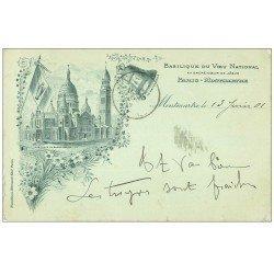 carte postale ancienne PARIS 18. Le Sacré-Coeur de Montmartre Basilique du Voeu National 1901 Cloche Savoyarde