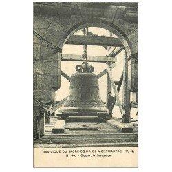 carte postale ancienne PARIS 18. Le Sacré-Coeur de Montmartre Cloche la Savoyarde 1931