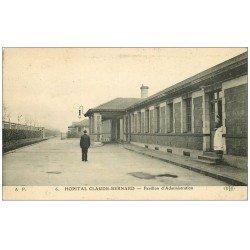 PARIS 19 . Hôpital Hôpitaux. Claude Bernard Avenue Porte Aubervilliers Pavillon Administration